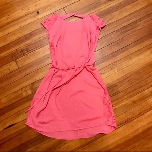 H&M pink dress lace inserts/ recycled size 6